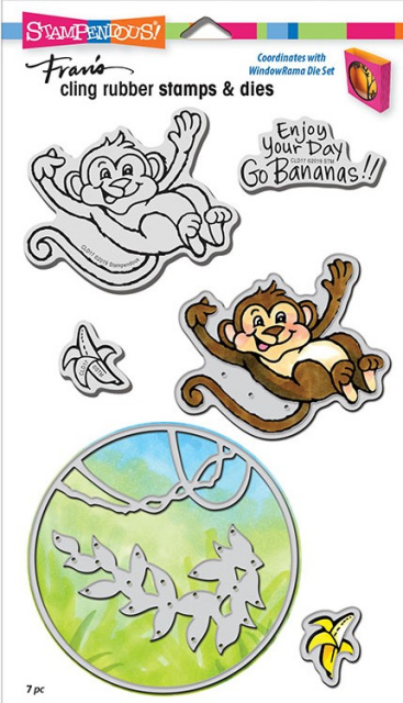 Monkey Stamp and Die Set/Cling