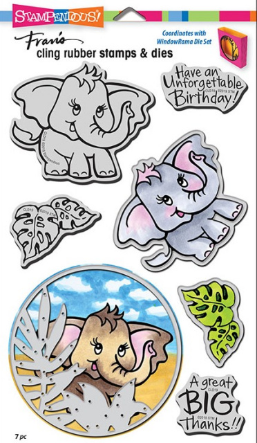 Elephant Stamp and Die Set/Cling