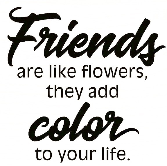 Friends Add Color/Cling