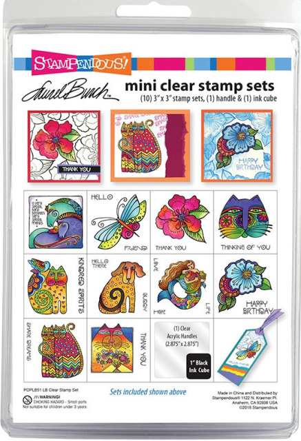 Laurel Burch Mini Stamp Set/Clear