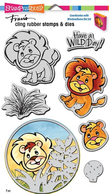Lion Stamp and Die Set/Cling