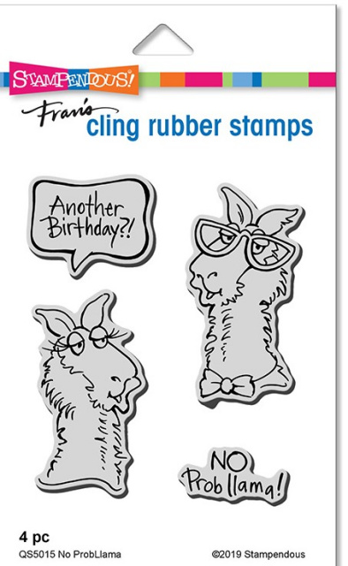 No Probllama Stamp Set/Cling