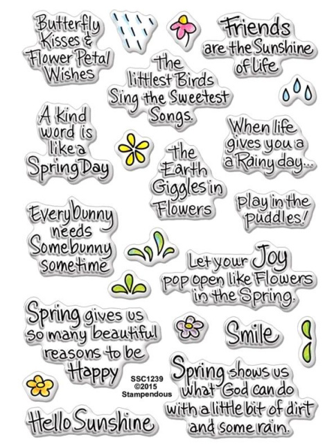 Spring Sentiments/Clear