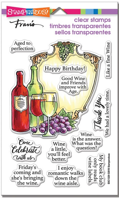 Wine Frame Stamp Set/Clear