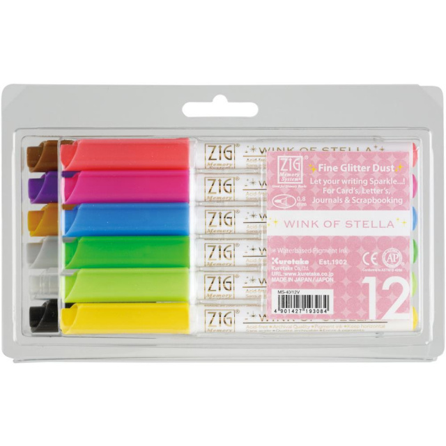 Wink Of Stella Glitter Markers .8mm Set Of 12