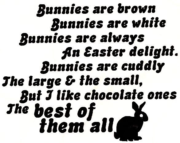 Chocolate Bunny/Cling