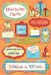 Cardstock Stickers-Blow Out The Candles