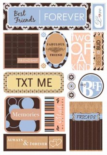 Best Friends Cardstock Stickers