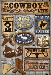 Cardstock Stickers Cowboy Life