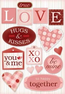 Cardstock Stickers-True Love