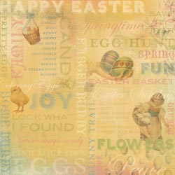 12x12 Easter Paper Vintage Collage